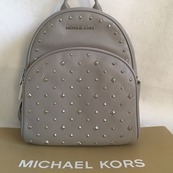 620be4bd2d04 Michael Kors Bags | Abbey Medium Backpack Gray Leather | Poshmark